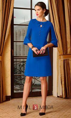 Платье Lissana 3282 василёк