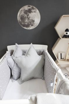 Fly me to the moon. by dotsmylove Cribs, Throw Pillows, Bed, Classic, Home, Cots, Derby, Toss Pillows, Bassinet