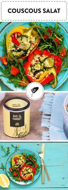Gefüllte Paprika mit Couscous Salat
