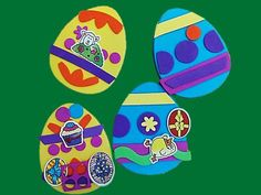 Paso a paso para hacer huevos de Pascua con fomi