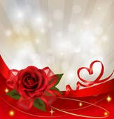 Valentine`s day background. Red rose with gift red bow. Rose Images, Art Images, Banner, Free Photographs, Clipart, Royalty Free Photos, Red Roses, Flower Arrangements, Valentines