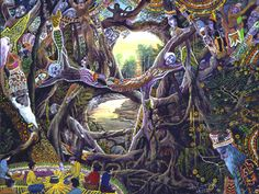 Pablo Amaringo. Ayahuasca art, done while having an ayahuasca experience, this is what Pablo saw. Beautiful!