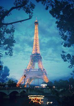 Eiffel Tower, Paris, France in Blue Torre Eiffel Paris, Paris Eiffel Tower, Eiffel Towers, Beautiful Paris, Paris Love, Beautiful Scenery, Dream Vacations, Vacation Spots, Places To Travel