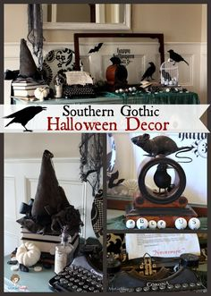 Atta Girl Says | Gothic, Ghastly and Gory: Halloween Decorating Ideas | http://www.attagirlsays.com