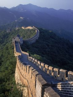 The Great Wall, Beijing, China Photographic Print by Hal Gage at Art.com