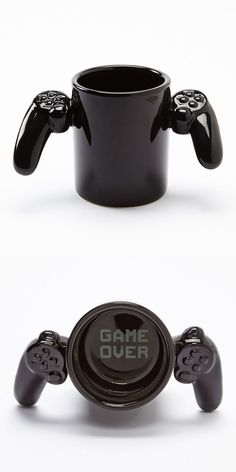 "nerdismindecor:  ""Game Over"" game controler coffee mug, found here."