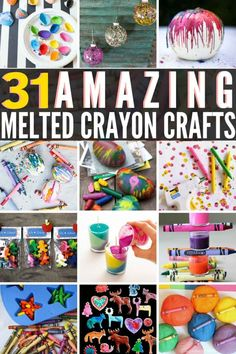 Melted Crayon Canvas, Melted Crayon Crafts, Diy Crayons, Broken Crayons, Melting Crayons, Adult Crafts, Diy Crafts For Kids, Art For Kids, Arts And Crafts