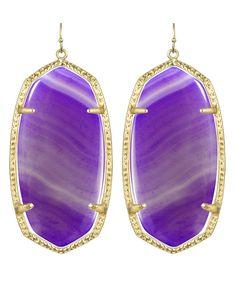 Danielle Earrings in Purple Agate. #KendraScott
