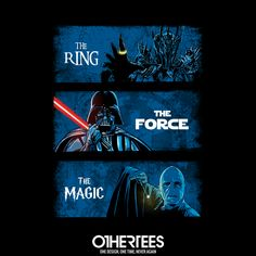 """Dark Lords"" by ddjvigo T-shirts, Tank Tops, V-necks, Sweatshirts and Hoodies are on sale until January 21st at www.OtherTees.com #StarWars #Vader #Voldemort #HarryPotter #JKRowling #Hobbit #LOTR #LordOfTheRings #Tolkien #OtherTees #DarkSide #TShirts #LordVader"