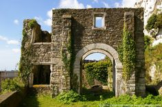 Ruins of Mote's Bulwark Gatehouse on the White Cliffs below Dover Castle, Kent, UK Dover Castle, White Cliffs Of Dover, King Henry, Henry Viii, Medieval Castle, Places To See, Travel Photos, Coastal, Around The Worlds