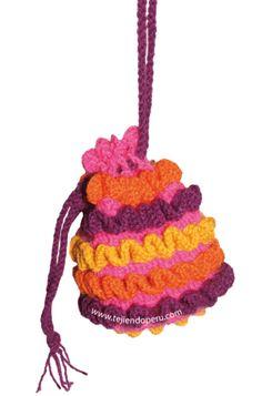 Cómo tejer un bolso con ondas en relieve a crochet (wiggle crochet purse)!