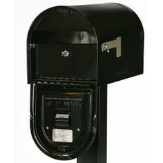 Gibraltar Mailboxes Wyngate Locking Post Mount Mailbox in Black-WM16KB01 at The Home Depot