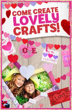 Find our collection of #Valentine'sDay themed #kids #crafts