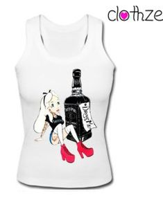 Alice In Wonderland Drink Me Jack Daniel Tank Top