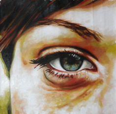 "Thomas Saliot; Oil, Painting ""Green eye"""