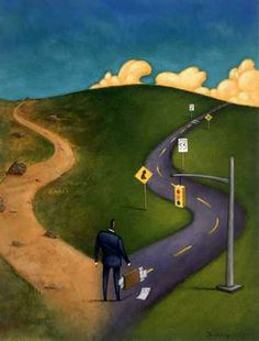 """Love this illustration! """"There Is Always A Choice Usually Two Paths To Take""""  Which road will you take ?"""