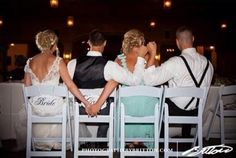 This picture will be taken at my wedding! The bride and the bridesmaid, and the groom and the best man. So freakin cute!