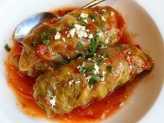 Lambage Rolls - Lamb & Rice Stuffed Cabbage Rolls with Almonds and Currants.. YUM X9
