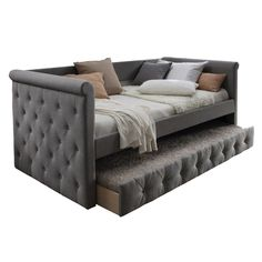 Upholstered Daybed with Trundle Gray - Home Source interior design internships - Interior Design Furniture, Room, Single Sofa, Daybed With Trundle, Upholstered Daybed, Living Room Remodel, Bed Furniture, Home Decor, Bedroom Furniture