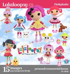 SALE 50% OFF Lalaloopsy 2 Instant Download by pinkykatieclipart