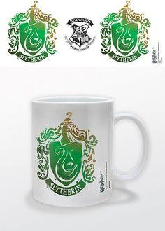 Mug Harry Potter Slytherin/Serpentard Stencil Crest - 10.99€ - #Logostore