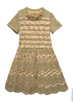"""Одежда для девочек, ручной работы. Ярмарка Мастеров - ручная работа. Купить Платье """"Аленка"""". Handmade. Бежевый, чистошерстяная пряжа"""
