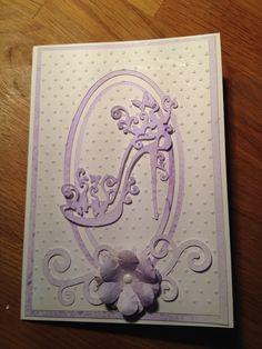 Embossed shoe card