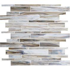 American Olean 12-in x 12-in Loren Place Sea Shell Glass Mosaic Wall Tile   Lowe's Canada