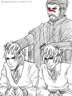 by AskBroodyElf... This is brilliant and accurate - these two really do behave like two squabbling school boys. ;)