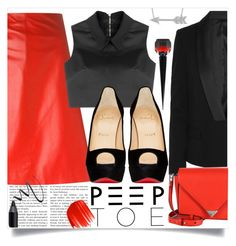 """""""red&black"""" by ailav9 ❤ liked on Polyvore featuring Jil Sander, Maybelline, McQ by Alexander McQueen, Karl Lagerfeld, Christian Louboutin, Alexander Wang, Urban Decay and Allurez"""