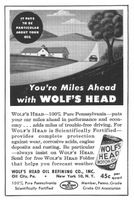 Wolf's Head Motor Oil 1953 Ad Picture