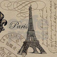 Vintage Paris Eiffel Tower Tote Bag