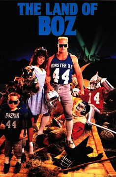 ec96dd47c The Land of BOZ poster (Brian Bosworth of the Seattle Seahawks) - I used to  have this up in my room