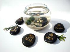 Marimo Moss Ball Aqua Zen Garden with Chinese by eGardenStudio, $23.00