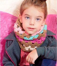 Cuello para las niñas con colores más. Vivos