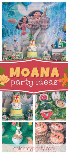 Don't miss this wonderful Moana Birthday Celebration. The birthday cake is amazing!! See more party ideas and share yours at CatchMyParty.com