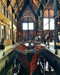 Pardon Me in Bolt Castle boat house.