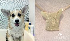 Corgi jewelry by silhouPETte. Great gift for mother's day, birthdays, and memorial keepsakes for the corgi-loving-lady in your life! www.silhouPETte.com