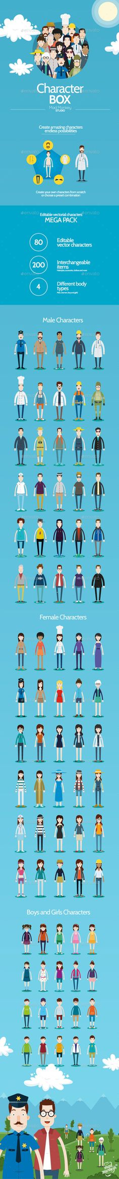 Character Box - People Characters