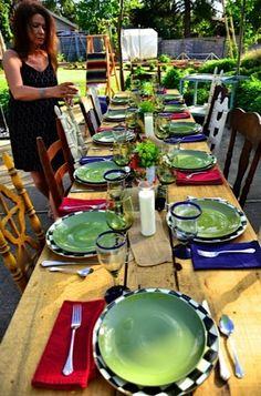 Fiesta Dinner Party reluctantentertainer.com