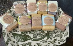 Soap Sampler Bag// Nine Sample Soaps// Natural by orchardfarmsoap, $25.00