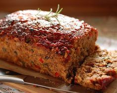 Checkout this easy Turkey Meatloaf Recipe with Vegetables at LaaLoosh.com! Full of flavor, but low on Points, this delicious turkey and vegetable meatloaf has just 5 Points + per serving. This a great healthy dinner idea for all families.