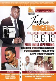 Joshua Rogers CD Release Concert December 6, 2012 - Philadelphia, PA