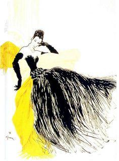 Pierre Balmain, Fémina, 1946, by René Gruau