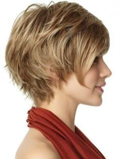 asymmetrical, short shag- I might have to do this next time... I love my short hair right now... but this might even be better!