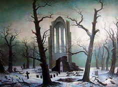 Cloister Cemetery in the Snow - Caspar David Friedrich