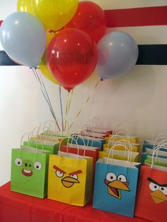 """Photo 1 of Angry Birds / Birthday """"Angry Birds Birthday Party"""" Bird Birthday Parties, 5th Birthday Party Ideas, Birthday Fun, Ideas Party, Cumpleaños Angry Birds, Festa Angry Birds, Bird Party, Deco Table, Party Time"""
