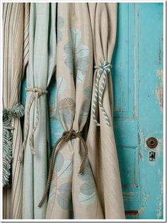 Sunbrella®  Lanai Lagoon Collection in Blues & Tans | The Decorating Diva, LLC
