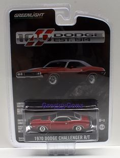 1:64  Greenlight Anniversary Collection 2 - 1970 Dodge Challenger RT - Latest Re #GreenLight #Dodge