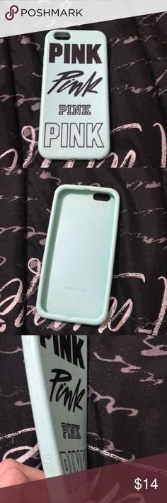 "brand ""Pink"" iphone 6/6s case Mint green pink silicone case, very protective. worn a couple of times however looks brand new besides ones shown in picture PINK Accessories Phone Cases"